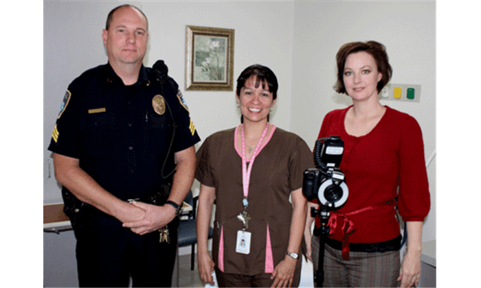 police officer, nurse, and photographer